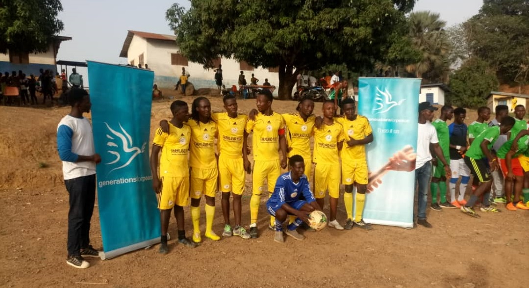 Generations For Peace hosts football games in Sierra Leone