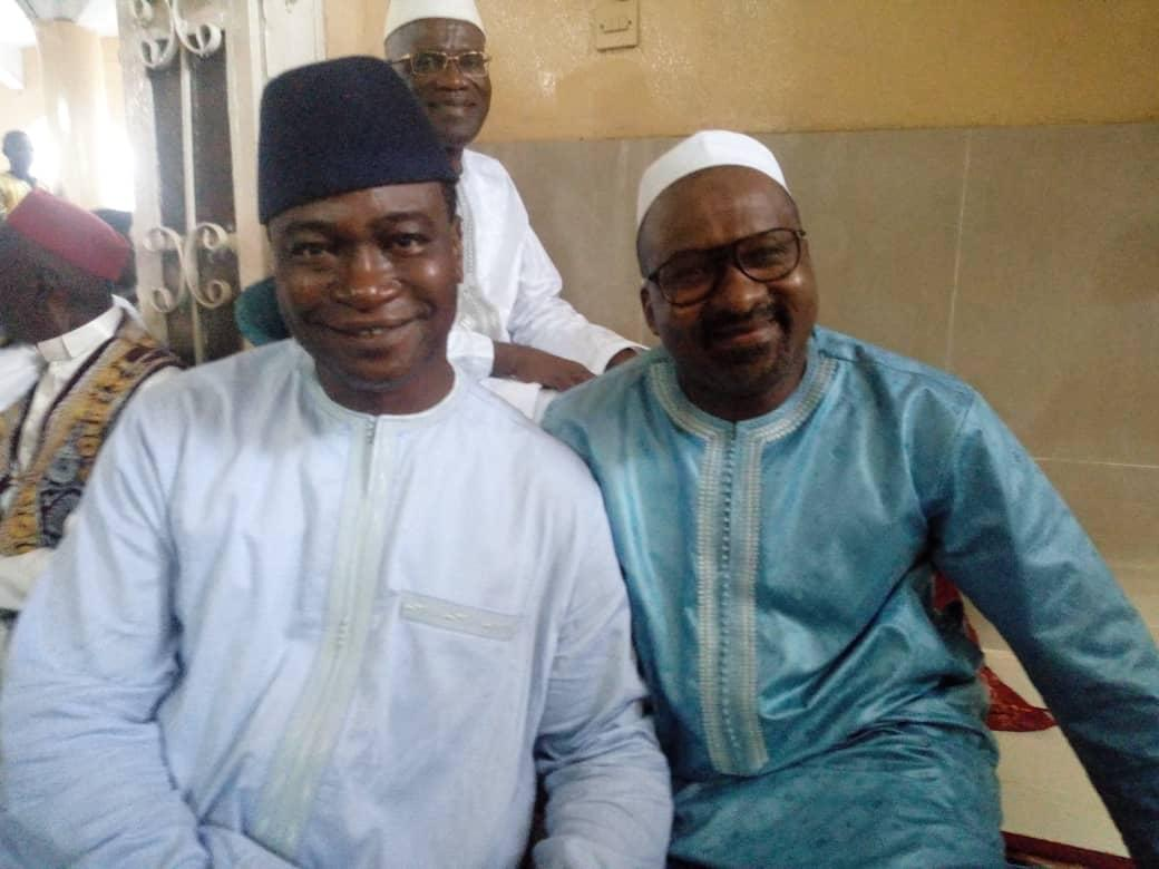 vice president Jalloh and Samura Kamara at the Bombay Street mosque 3