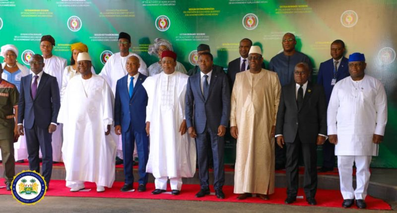 President Bio and ECOWAS leaders at the Extraordinary Session of the ECOWAS……