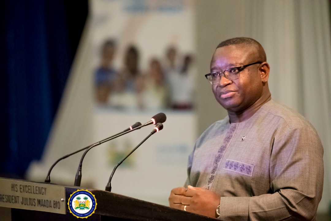 President Bio urges children in Sierra Leone to make good use of free education 1