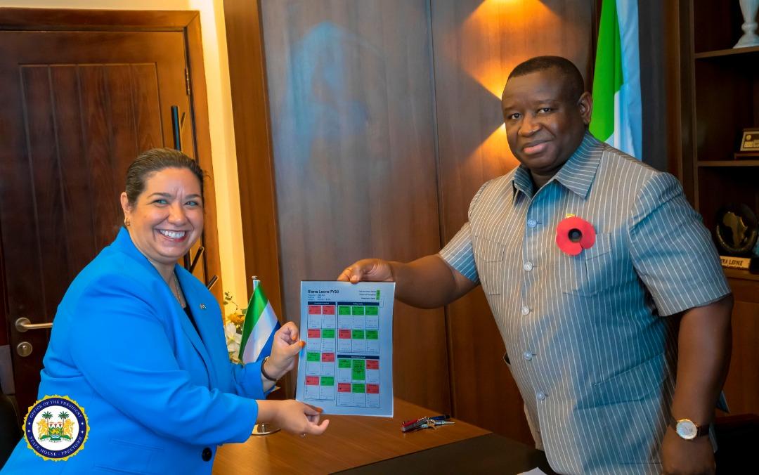 president Bio receives MCC scorecard 2020 2