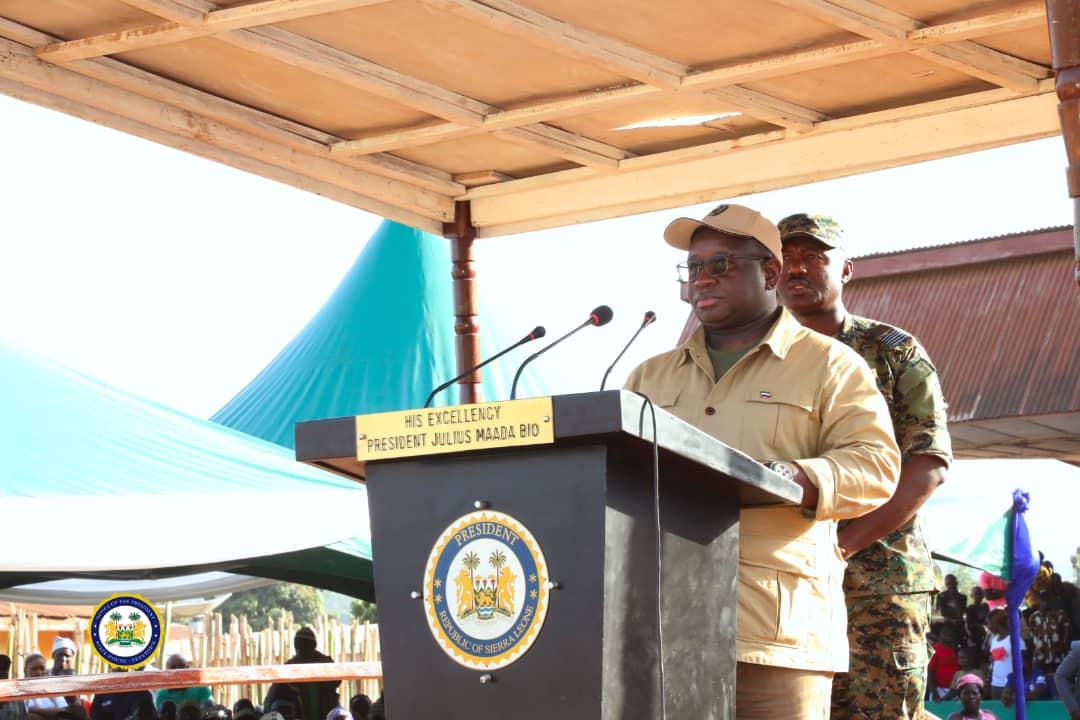 President Bio in Koinadugu and Falaba districts 1
