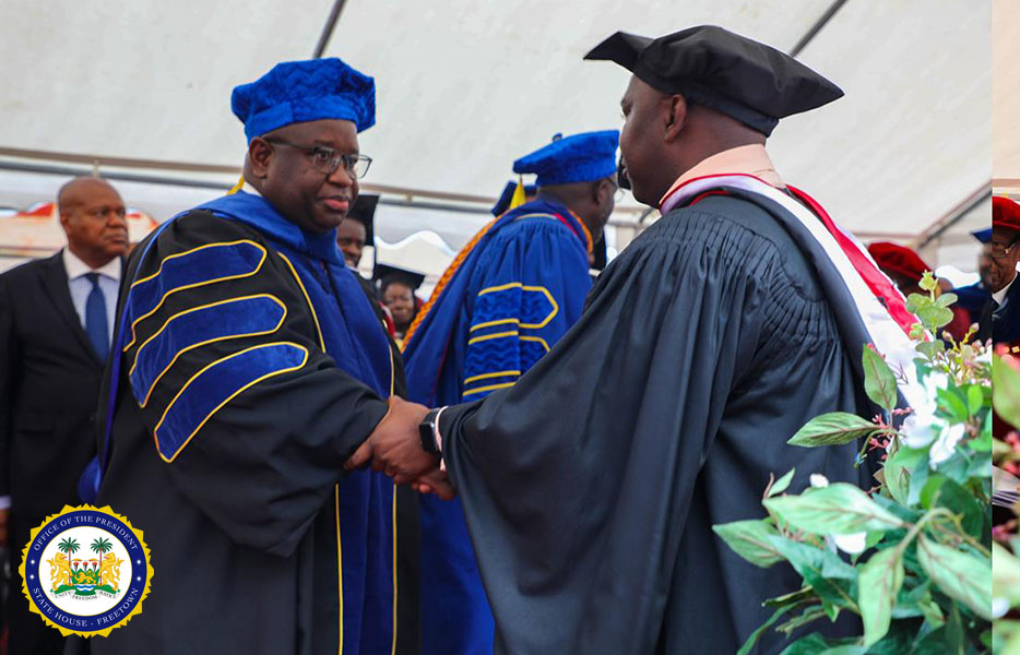 President Bio receives Honorary Doctorate Degree in Liberia11