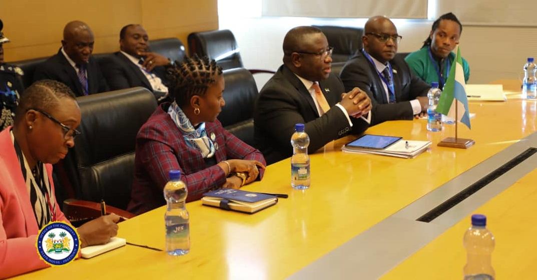 President Bio meets President of the African Development Bank Dr Akinwumi Adesina 1
