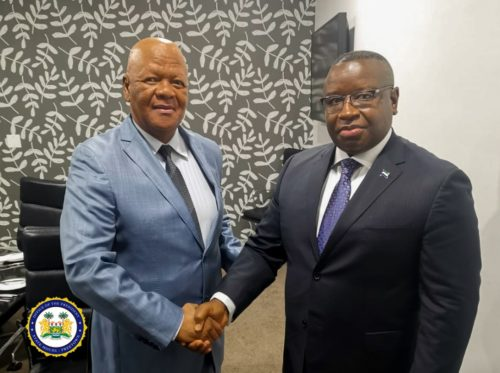 President Bio meets senior adviser to President Cyril Ramaphosa in South Africa to discuss visit of 30 investors to Sierra Leone.