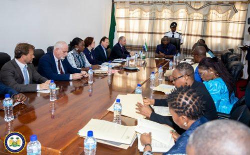 Sierra Leones president Bio meets European Union partners in Freetown2