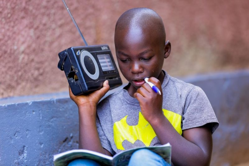Radio learning for children in Africa