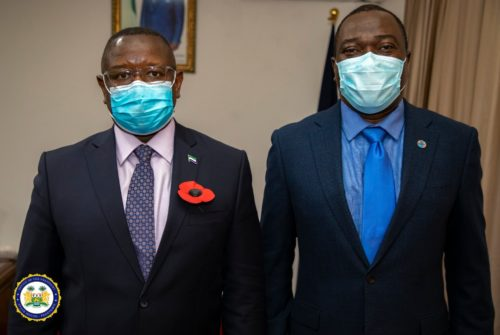 Head of UN in Sierra Leone meets president Bio at State House 1
