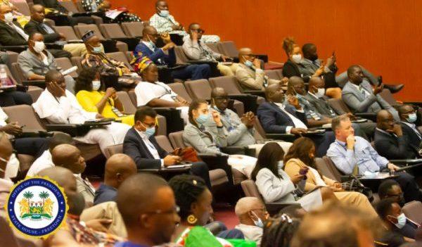President Julius Maada Bio Launches NMAs GeoData 5