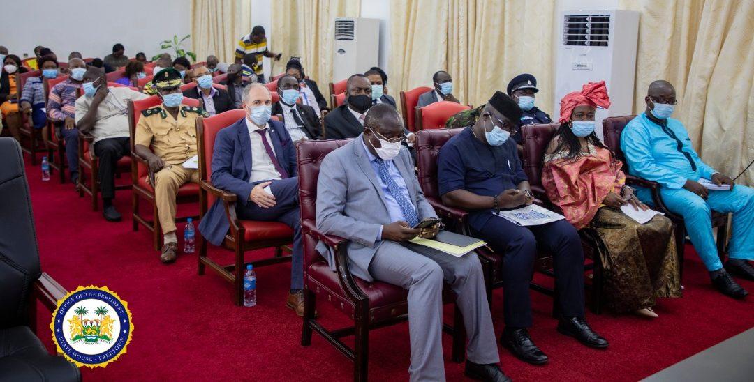 President Bio receives NEC Annual Report 2020 2