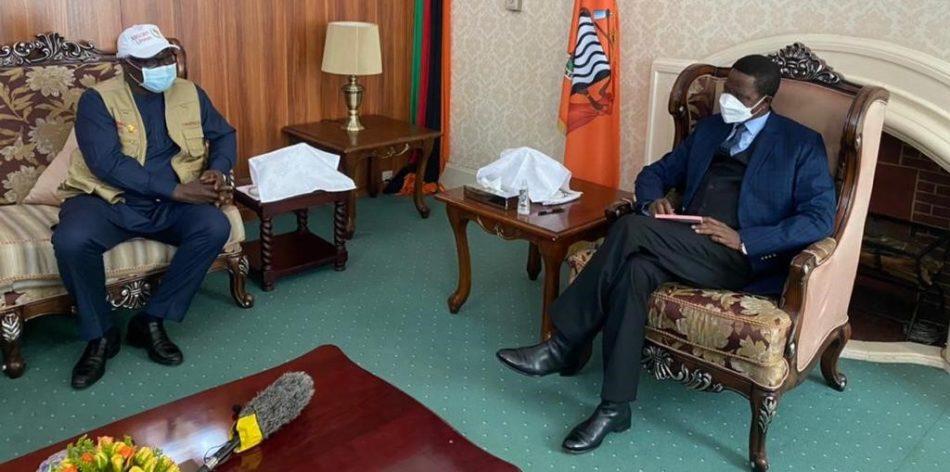 Former president Koroma meets Zambian President Edgar Lungu ahead of tomorrows elections e1628698723646