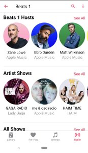 Apple Music Screen Shot
