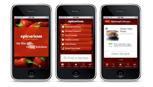 epicurious app for iphone