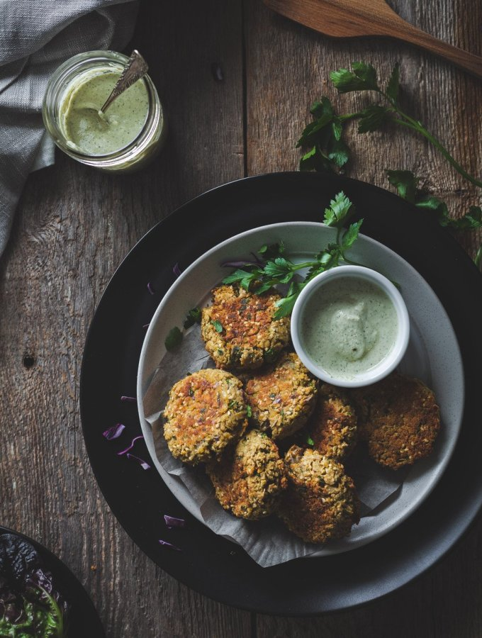 Baked Falafel Vegan - The Simple Green