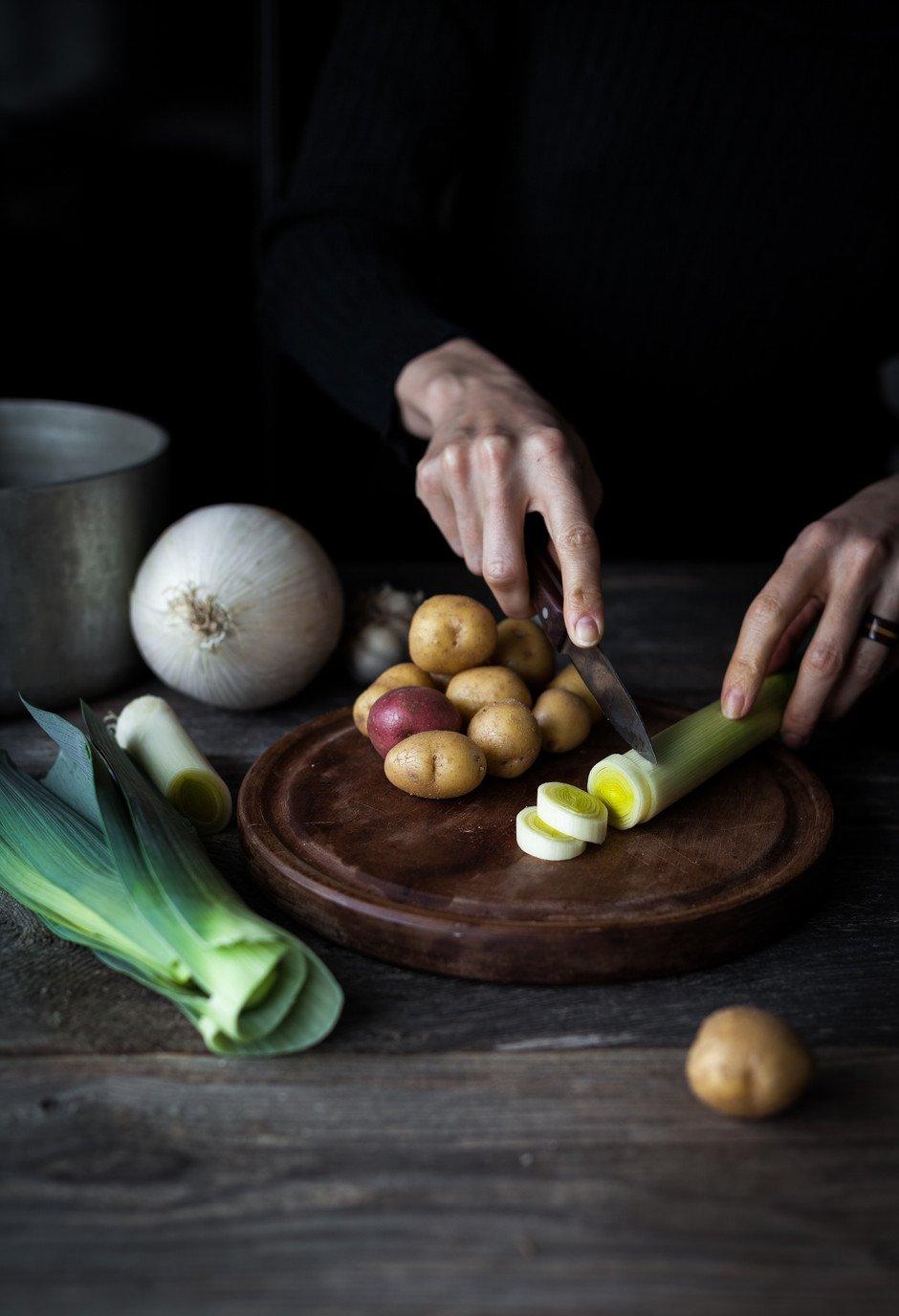 Leek Potato White Bean Soup- The Simple Green