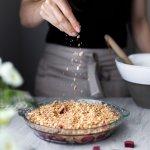 Rhubarb Oat Crumble- The Simple Green