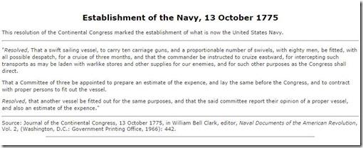 Birth certificate U.S. Navy