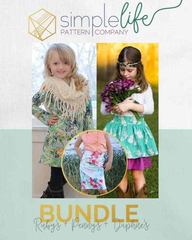 Bundle: Ruby's + Penny's + Daphne's | Skirt | A-line top + Dress | The Simple Life Pattern Company