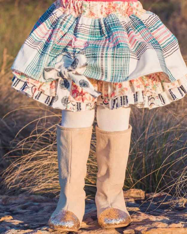 Baby Pepper Peekaboo Ruffle Skirt | The Simple Life Pattern Company