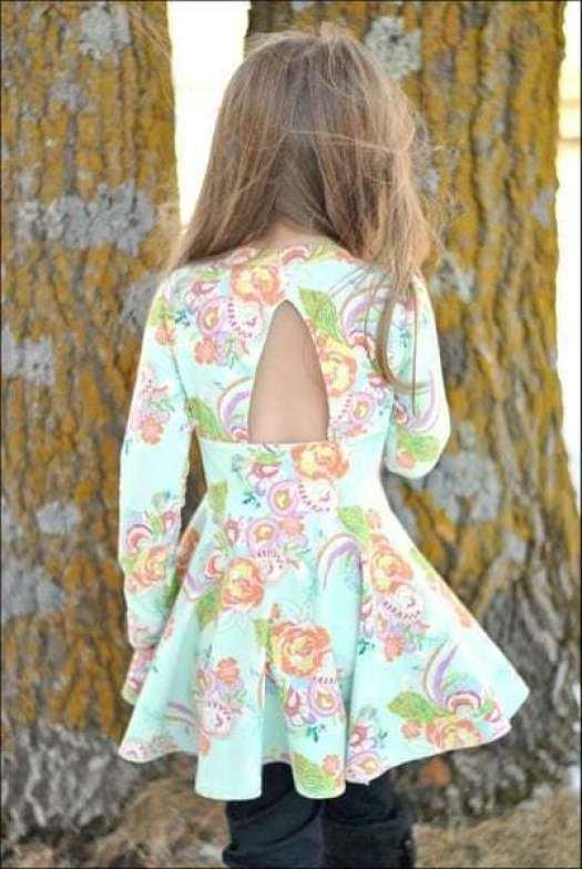 Paisley's Open Back Peplum Top & Dress