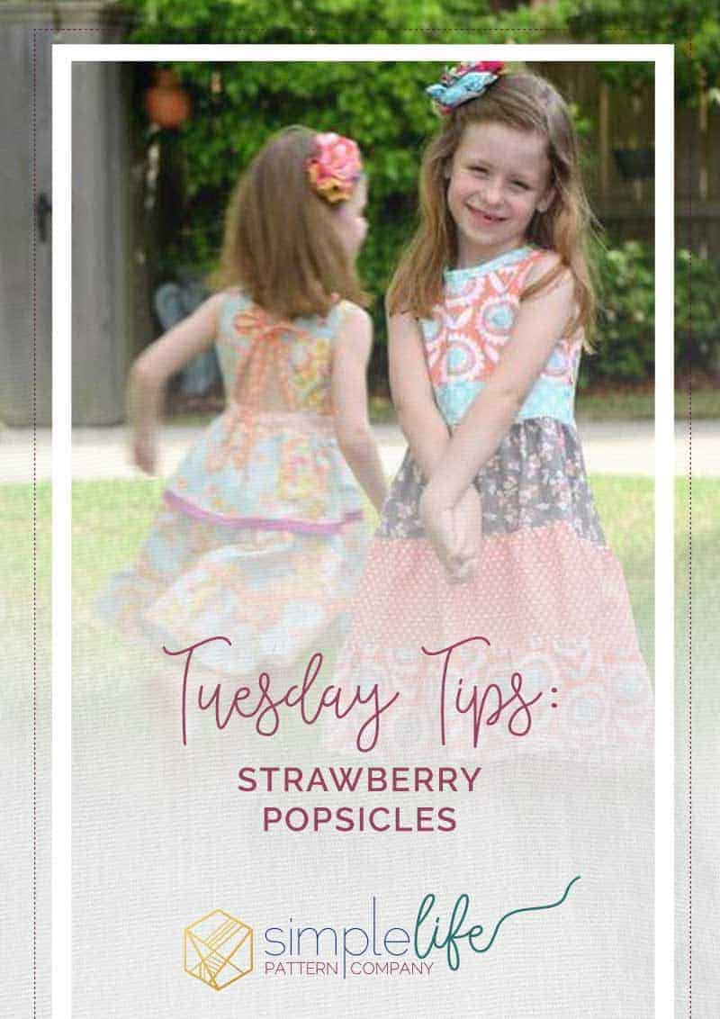 Tuesday Tips: Strawberry Popsicles