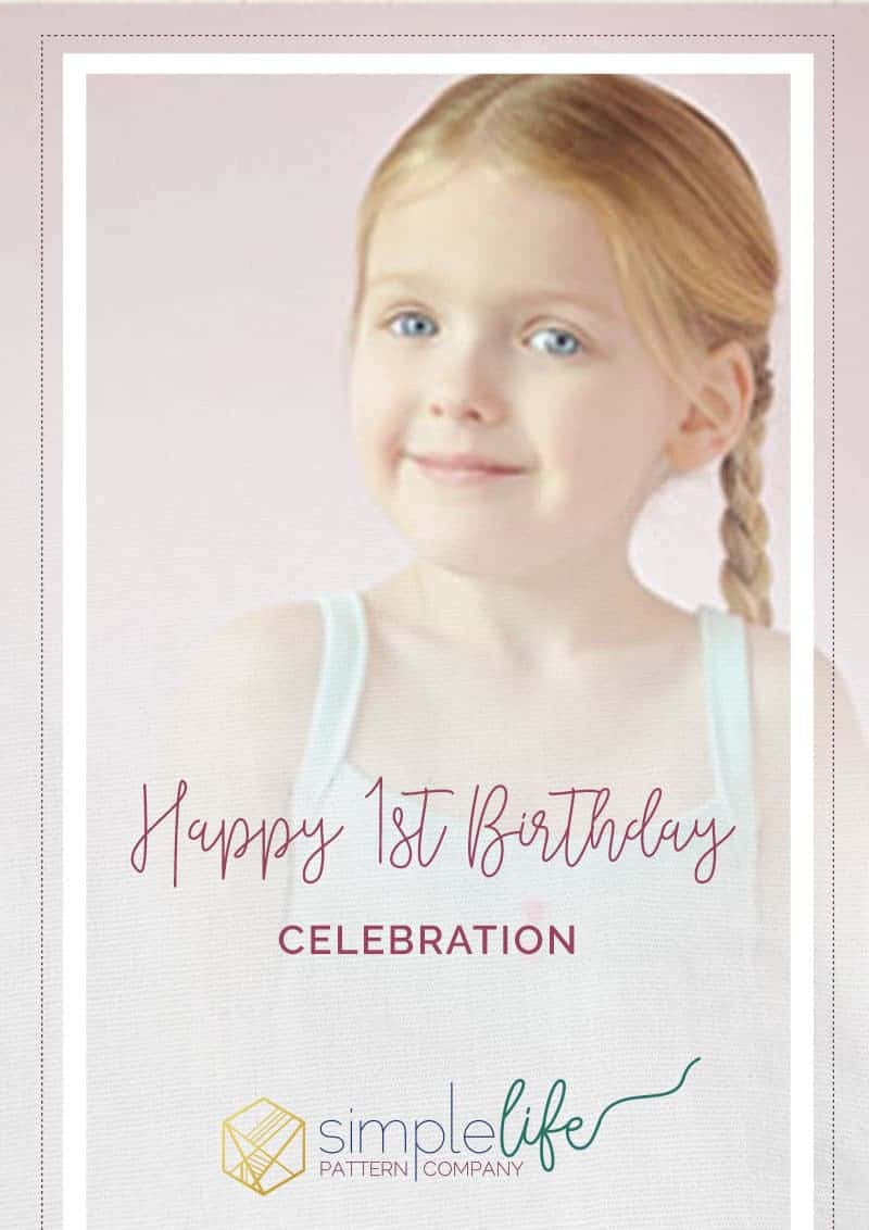 Happy Birthday   The Simple Life Pattern Company