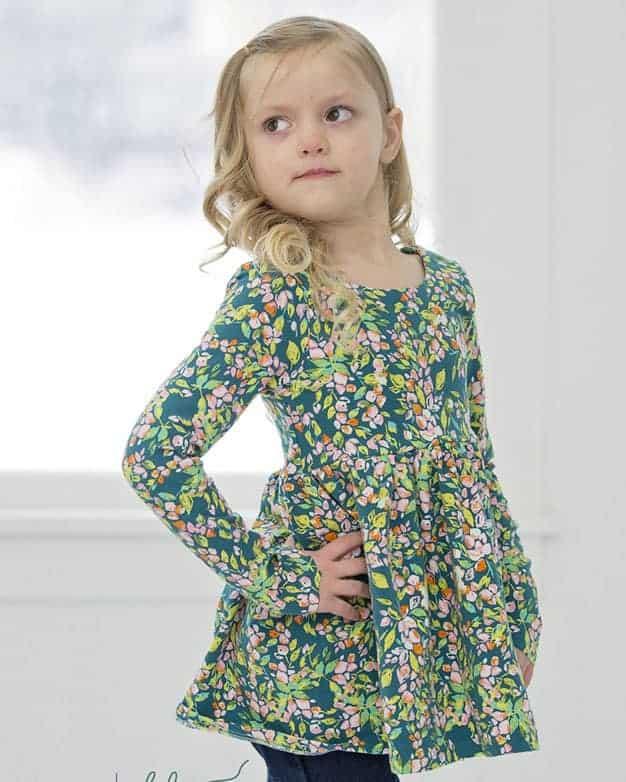 Knit Ayda's V Back Peplum + Dress   The Simple Life Pattern Company
