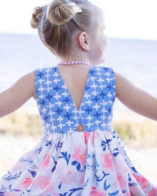 Jaimesyn's Double Flutter Pocket Top + Dress | The Simple Life Pattern Company