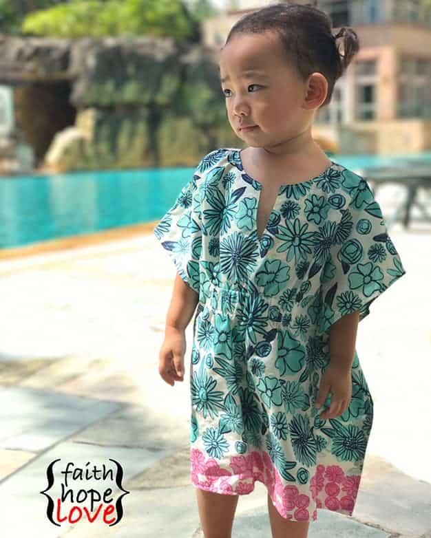 SImple Life Pattern Company Cordelia's Swim Cover pdf sewing pattern girls 2t-12 slpco swim cover up beach pool
