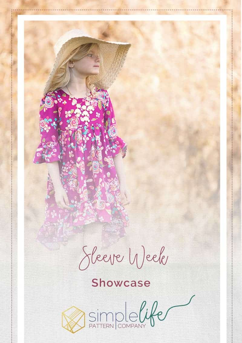 Sleeve week simple life pattern company a showcase featuring all the patterns that include sleeves for fall winter spring sewing. PDF sewing pattern easy beginner intermediate fast sew patterns bell sleeves elbow cap 3/4 sleeves knit woven slpco