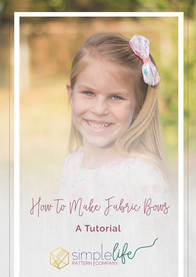 Simple Life Pattern Company | DIY Fabric Hair Bow Tutorial Hair Bows Tutorial Bow Fabric Girl DIY Indy Bloom Fiskars Hair Clip