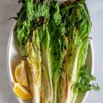 grilled napa cabbage with lemons.