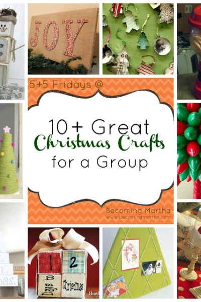 Great Group Christmas Crafts - The Simply Crafted Life