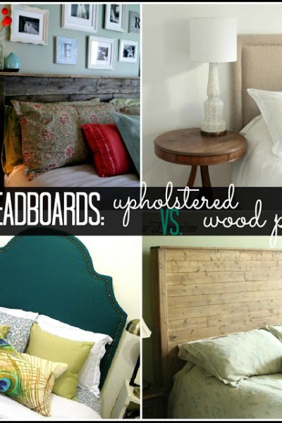 DIY Headboard Ideas - Upholstered or Wood Plank: The Simply Crafted Life