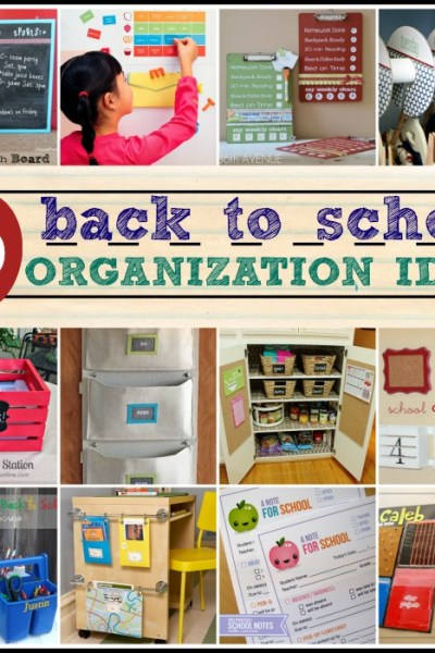 40 Back to School Organization Ideas - The Simply Crafted Life