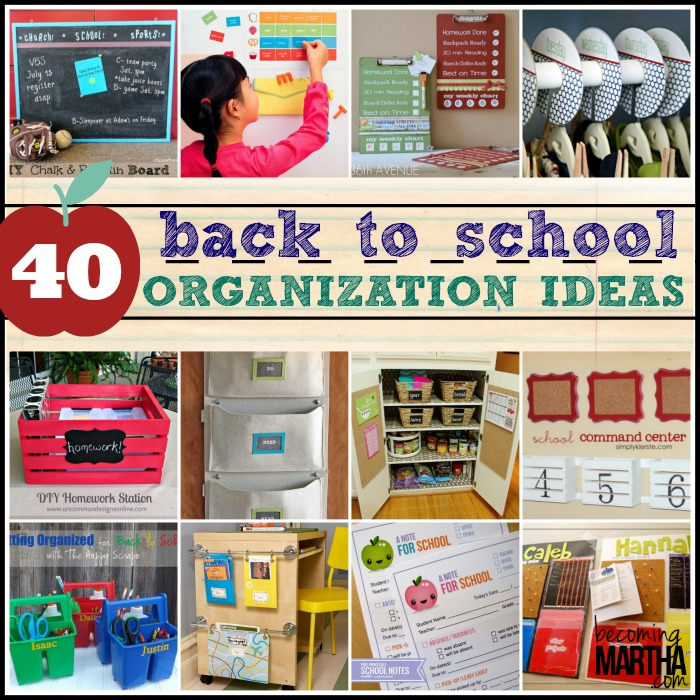 back to school organization ideas