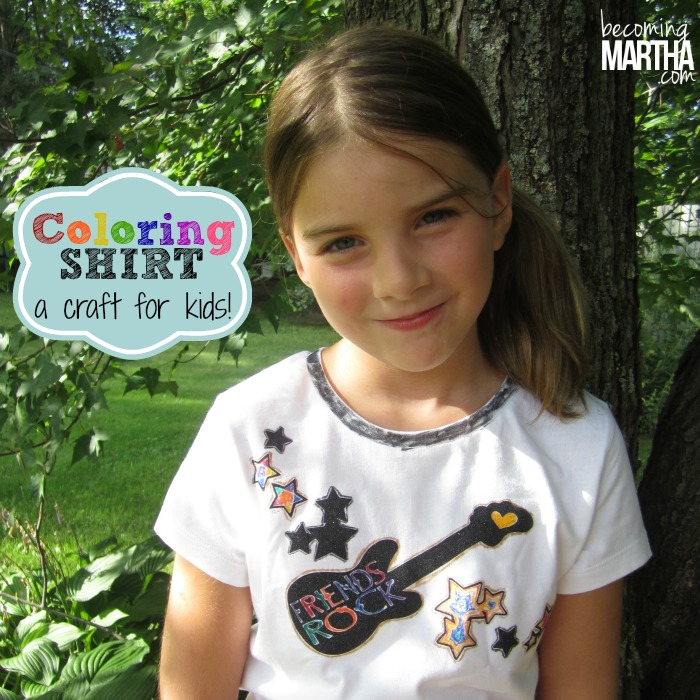 coloring shirt for kids