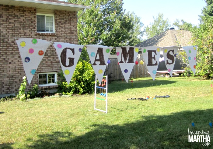 stenciled painted party banners 6