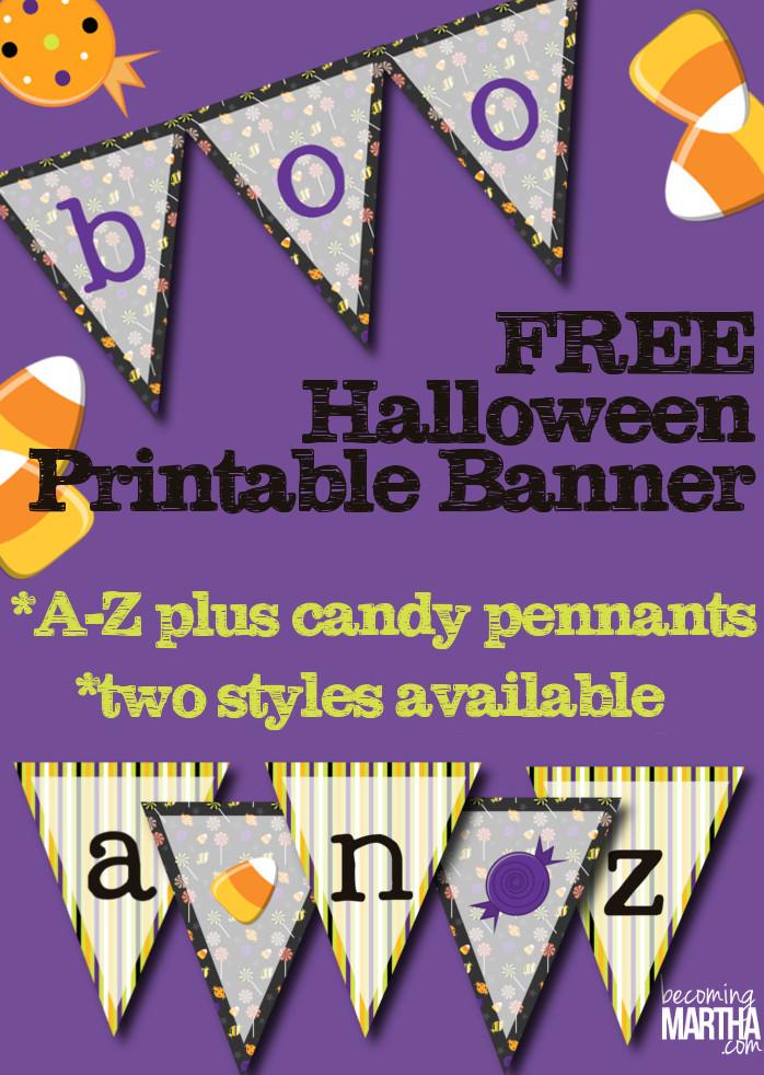 photograph regarding Printable Halloween Banners called Cost-free Printable Halloween Banner - The Simply just Built Everyday living