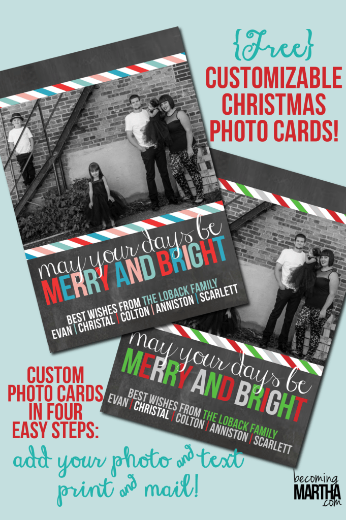 Free Printable Christmas Cards from The Simply Crafted Life