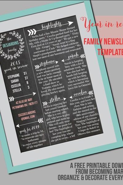 Family Newsletter Template