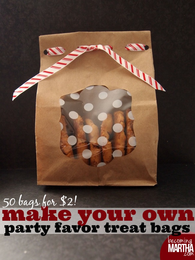 Make your own Party Favor Treat Bags - 50 bags for $2!