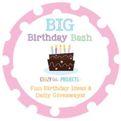 Big Birthday Bash with Crazy Little Projects - a week filled with giveaways and great party posts!