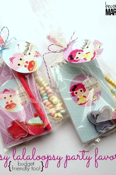 Easy Lalaloopsy Party Favors - For Under $1 Each!