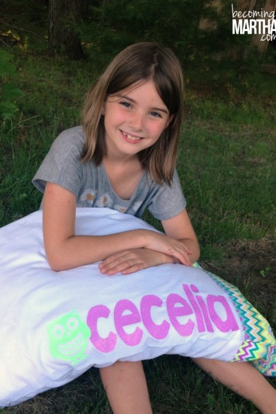Create personalized pillowcases with this beautiful new neon glitter heat transfer! The kids can autograph them for an added bonus - makes a great sleepover activity or birthday gift!