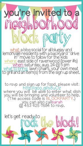 Free Printable Block Party Invitation Template