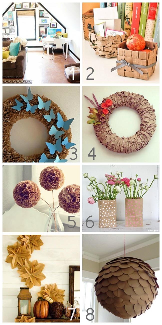 50+ Things to Make With Paper Bags - For the Home