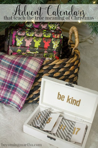 No gross waxy chocolate here! These DIY Advent Calendars help teach the true spirit of the season and are a great way to countdown the days until Christmas.