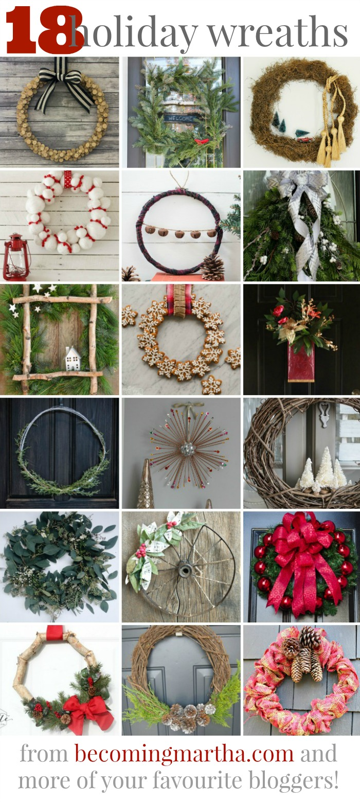Create this wood slice wreath (or one of these other 17 great ideas) and impress the neighbours with your fancy new door decor this holiday!