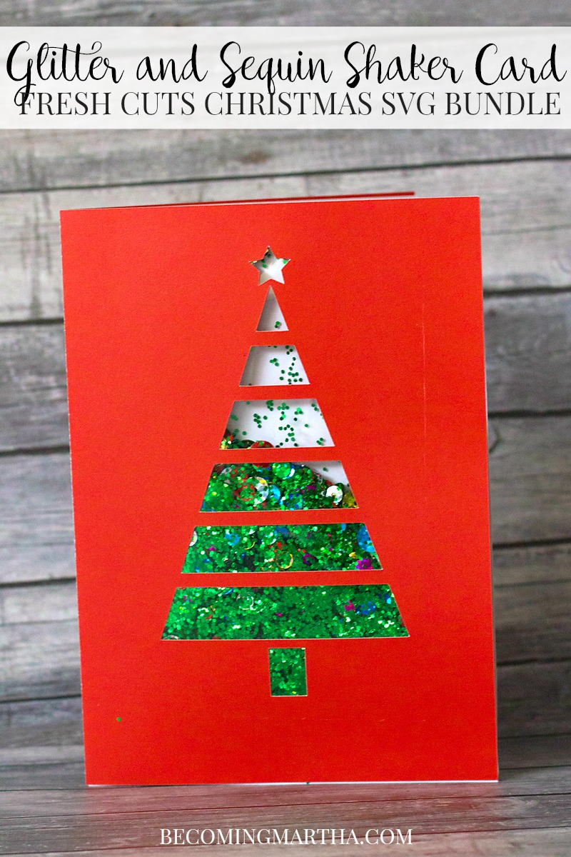 Shaker Woods Christmas In The Woods.Free Christmas Card Svg A Shaker Card With Matching Gift Tag